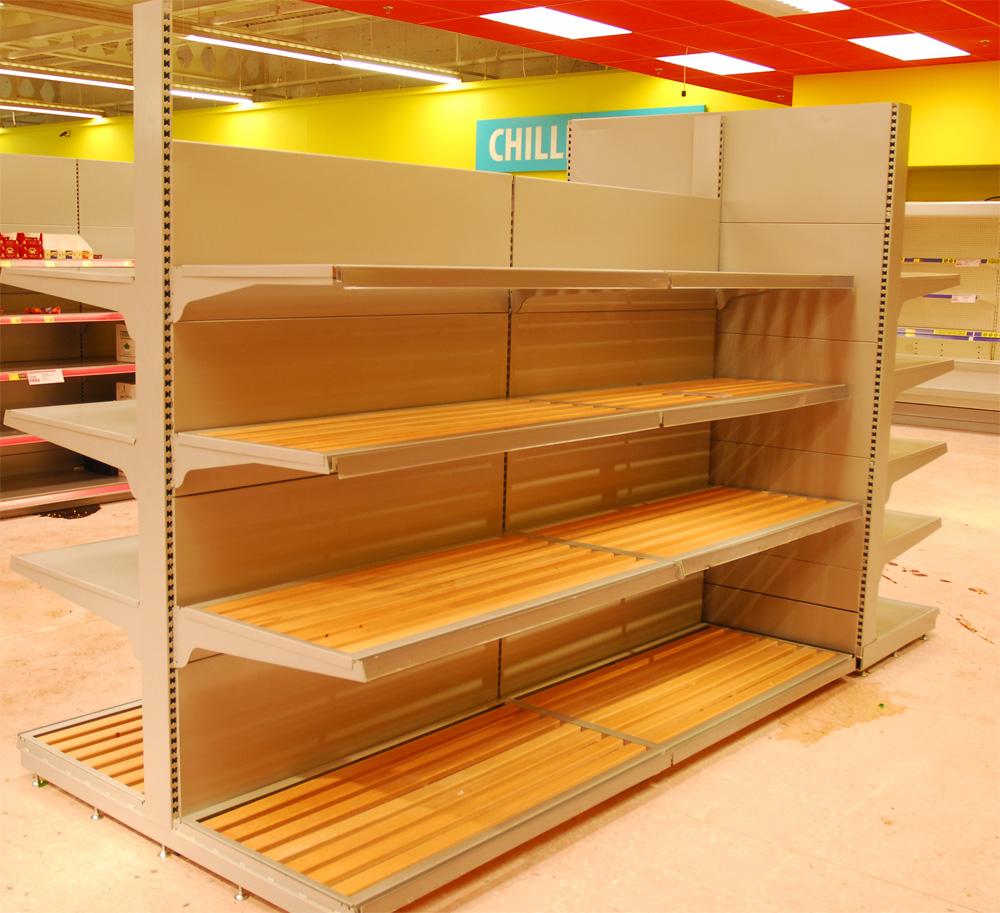 used retail supermarket food display shelving